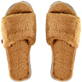 MF Women's Comfy Fur Slippers Indoor House or Outdoor Open Toe Slip on Home Latest Stylish Fashion Soft Plush Fleece…