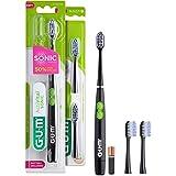 GUM ActiVital Sonic Cepillo de Dientes Eléctrico con Tecnología Sónica a Pilas/Filamentos cónicos para una limpieza eficaz /
