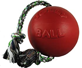 JOLLY PETS 606 RD ROMP-N-ROLL BALL RED 6 INCH