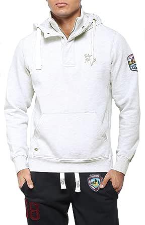 Tokyo Laundry Mens Designer Layered Pullover Hoodie Sweatshirt Jumper Top PO241