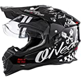 O'Neal Sierra II Helm Moto XXX Torment Schwarz Weiß Motorrad MX Motocross Enduro Cross Offroad, 0817-60