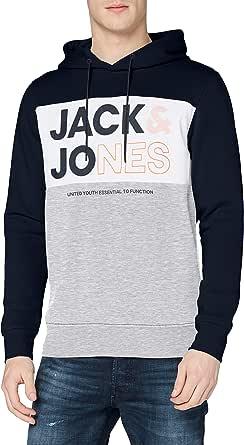 JACK & JONES Jjarid Sweat Hood Felpa con Cappuccio Uomo
