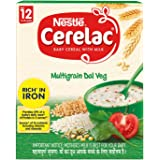 Nestlé CERELAC Baby Cereal with Milk, Multigrain Dal Veg – From 12 Months, 300g BIB Pack