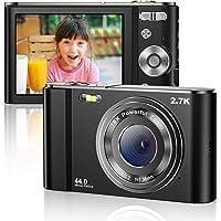 Vnieetsr Digitalkamera 2.7K Ultra HD Mini-Videokamera 44MP 2.8 Zoll LCD Wiederaufladbare Studententaschenkamera mit 16X Digitalzoom…