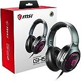 MSI Immerse GH50 Cuffie Gaming Over Ear 7.1 con Illuminazione RGB, Controller Volume su Cavo, Attacco USB, Driver 40mm con Si