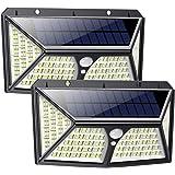 Feob Luz Solar Exterior 254 LED【Calidad Precio 2500mAH Placa Solar】Foco solar con PIR Sensor de Movimiento Inalámbrico Lámpar