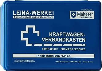 Leina Werke 10001 KFZ-Verbandkasten Standard, Blau/Weiß