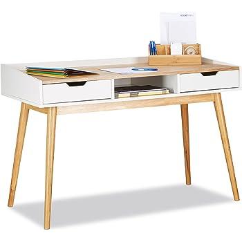 Kleiner Wei Er Schreibtisch , Bonvivo Designer Schreibtisch Massimo Moderner Sekretär In Einem