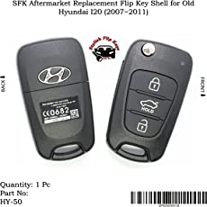 SFK Aftermarket Replacement Flip Key Shell for Old Hyundai I20 (2007~2011)