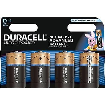 Duracell Ultra Power Piles Alcalines type D, Lot de 4