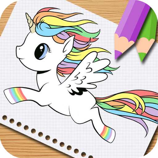 Unicorn Little Pony Coloring Book. For Kids,Preschooler,Girls and ...