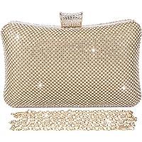 BAIGIO Damen Abendtasche Clutch Tasche Elegant Handtasche mit Strass für Party Hochzeit (Gold)