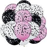 36 Pièces Ballons de Paris Décoration Ballons de Latex de Fête Imprimé de Jour à Paris pour Décoration de Fête à Thème Paris