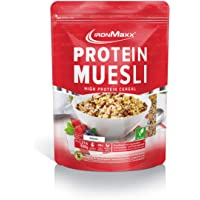 IronMaxx Protein Müsli Banane - 550g - Veganes Fitness Müsli laktosefrei und glutenfrei - Eiweiß Müsli mit 42…