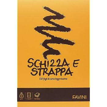 Favini A200704 Schizza e Strappa Favini, 21x29.7 cm, 50 G/Mq, 150 Fogli