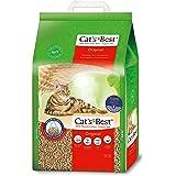 Cat's Best | Arena para Gatos Aglomerante EcoPlus 20L (8,6 kg). Tierra para Gatos de Hasta 7 Semanas de Uso. Arena Biodegrada