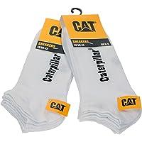 Caterpillar 6 Paia Calze Uomo Fantasmino Sneaker Cat morbido Cotone alla caviglia disponibili in vari colori e taglie