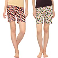 Zebu Women Regular Shorts (Pack of 2)