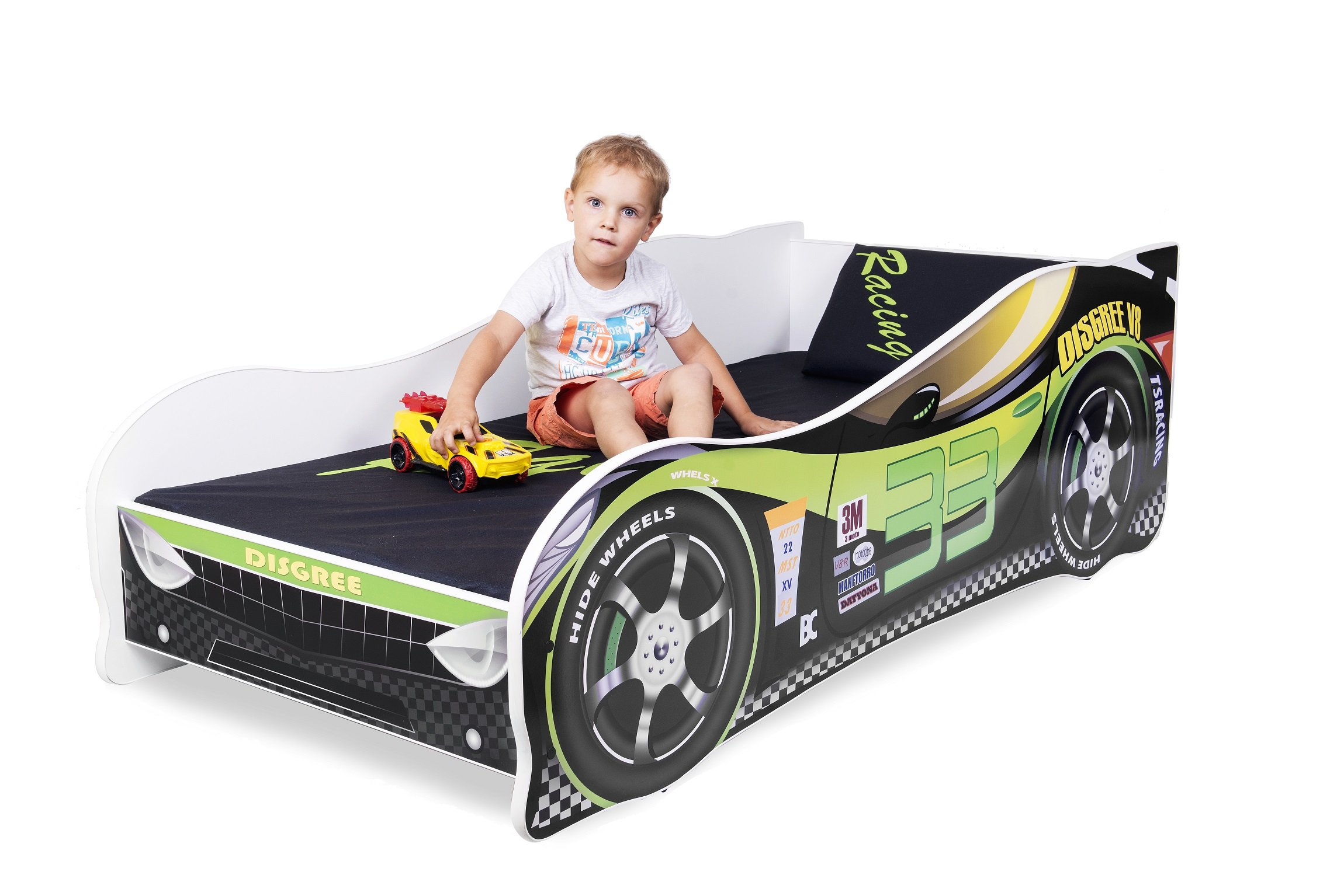 Sale +++ The Best Quality Baby Kids Bed Toddler Car Junior Bed with Mattress 140 x 70 cm 160 x 80 cm 180 x 80 cm (140x70cm Untill 5 Jears, Green) Nobiko Kids Bed + Foam Mattress in 3 Sizes: 140 x 70 cm untill 5 jears 160 x 80 cm untill 8 jears 180 x 80 cm untill 12 jears Greengard Gold - Product certified for law chemical emissions Ecologo - Product certified for reduced environmental impact 6