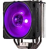 Cooler Master Hyper 212 RGB Black Edition Kylsystem - Stilfull, färgglad och exakt - 4 sammanhängande värmerör med direktkont