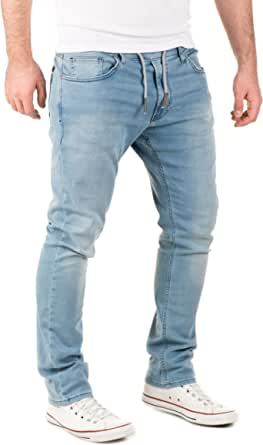 WOTEGA Uomo Pantaloni di Tuta Jogg Jeans -Look Noah Slim Fit