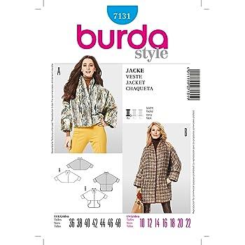 Burda Schnittmuster 7297 Kimono Mantel & Jacke Gr. 36-48: Amazon.de ...