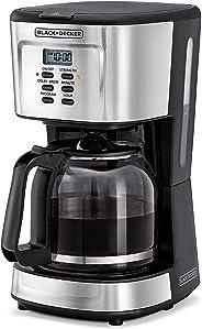 Black+Decker Programmable Coffee Maker 900W, Black/Silver, 12 cups, Dcm85-B5