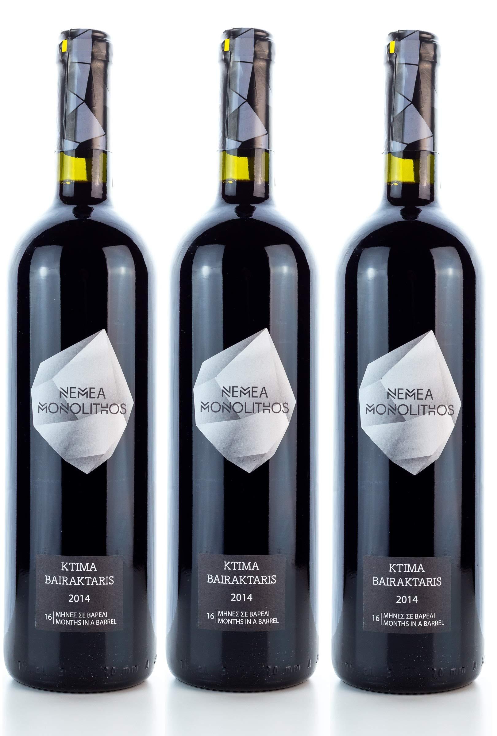 Sparset-3-x-Monolithos-Rotwein-trocken-PDO-Baraiktaris-Agiortiko-750ml-133-10-ml-Olivenl-aus-Griechenland-im-Sachet