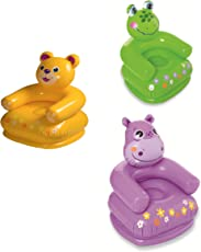 (CERTIFIED REFURBISHED) Intex Inflatable PVC Animal Chair (Color May Vary)