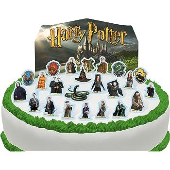 Toppershack Scène pour gâteau Harry Potter comestible PRÉ,DÉCOUPÉE , 24  décorations
