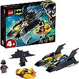 LEGO SuperHeroes DCBatman All'inseguimentodelPinguinoconlaBat-barca, Imbarcazione Giocattolo per Bambini di 4 Anni, 76