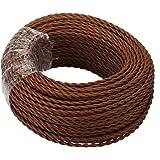GreenSun Textielkabel voor lamp, textiel gecoate stofkabel, stroomkabel, elektrische kabel, 2-aderig, 2x0,75mm² gedraaid gedr