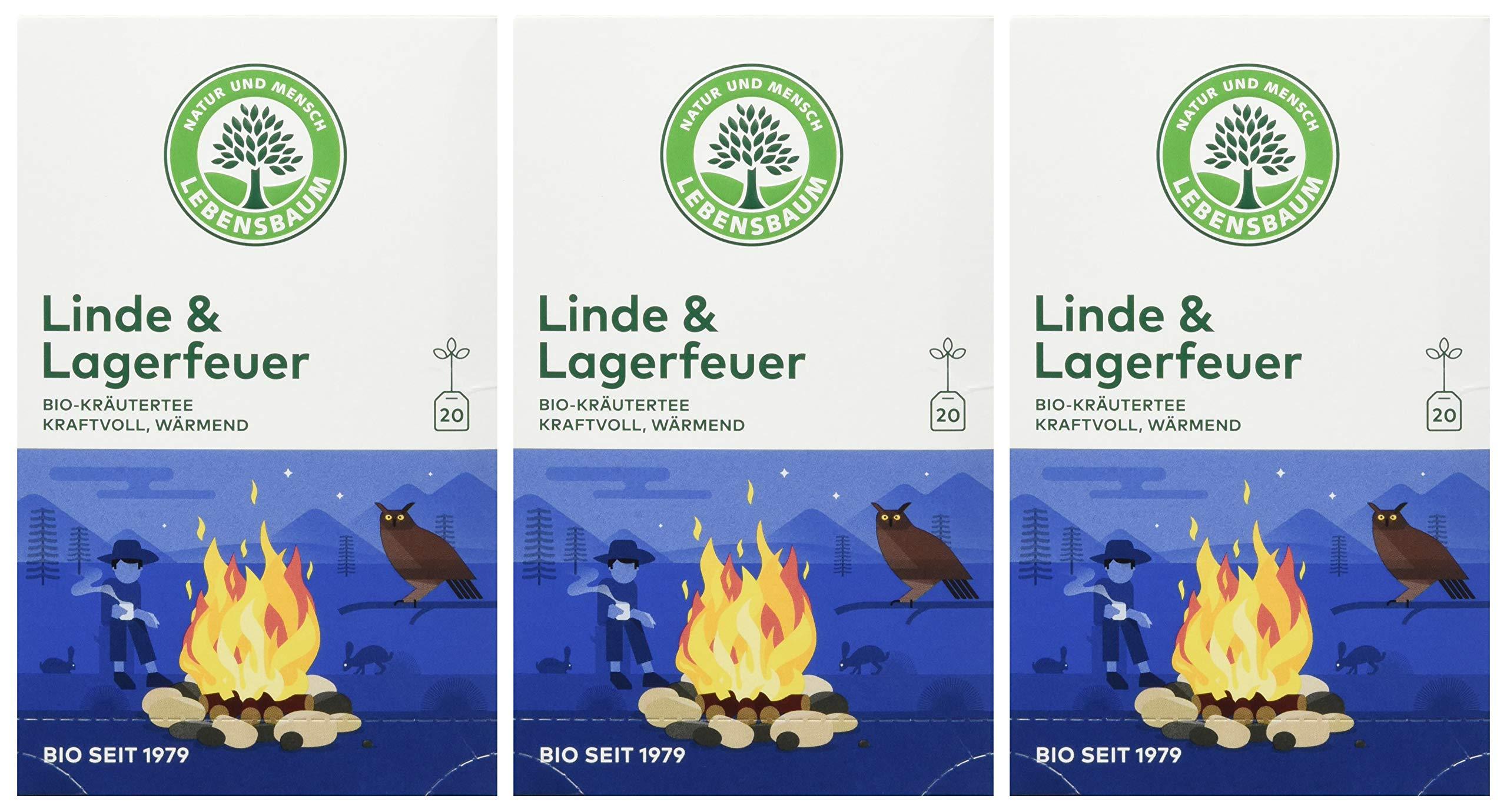 Lebensbaum-Bio-Krutertee-Linde-und-Lagerfeuer-3er-Pack-3-x-30-g