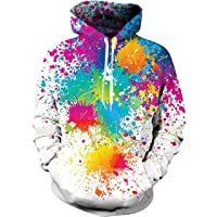 Idgreatim Unisex Hoodies Pull Imprimé Imprimé 3D Swearshirt avec Poches