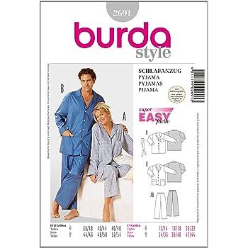 Burda Schnittmuster 9747 Pyjama Gr. 98-170: Amazon.de: Küche & Haushalt