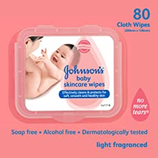 Johnson's Baby Skincare Wipes (80 Sheets)