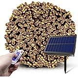 Fairy Lights solari, 2021 20m 200 LED 8 Modalità Luci da Stringa Solari con Telecomando, Luci da Fata Stellate Impermeabili p