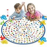 GILOBABY Educational Board Game Toy, Little Detective Memory Matching Card Game, STEM Fun Families Party Tabletop Game toy fo