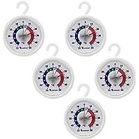 Thermometerwelt 4951   Set di 5 termometri per Frigorifero  Ganci e termometro Autoadesivo per Frigorifero
