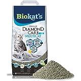 Biokat's Diamond Care MultiCat Fresh, geurend - Fijne kattenbakvulling met actieve kool, speciaal voor huishoudens met meerde