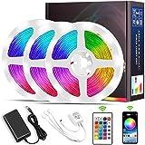 Tiras LED 15M, Micacorn 450LEDs RGB Luces LED de Colores SMD5050 Kit de Tira de Luz con Controlador Bluetooth Sincronización