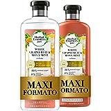 Herbal Essences Pompelmo Bianco e Menta di Mosa: Shampoo 400 ml + Balsamo 360 ml, Dona Volume ai Capelli, in Collaborazione c