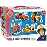 Jumbo 19275 - Fireman Sam 4-in-1 Konturenpuzzle 8/10/12/14 Teile