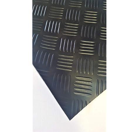 Gummimatten mit rutschhemmender Oberfl/ächenstruktur Meterware in vielen Gr/ö/ßen St/ärke: 3 mm Tr/änenblech-Struktur 100x700 cm Gummil/äufer