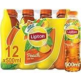 Lipton Ice Tea Peach Still Soft Drink 500ml, (Pack of 12)