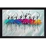 SAF Synthetic Modern Art Large Framed UV Digital Reprint Painting (14x20 inch) SANFMM6482