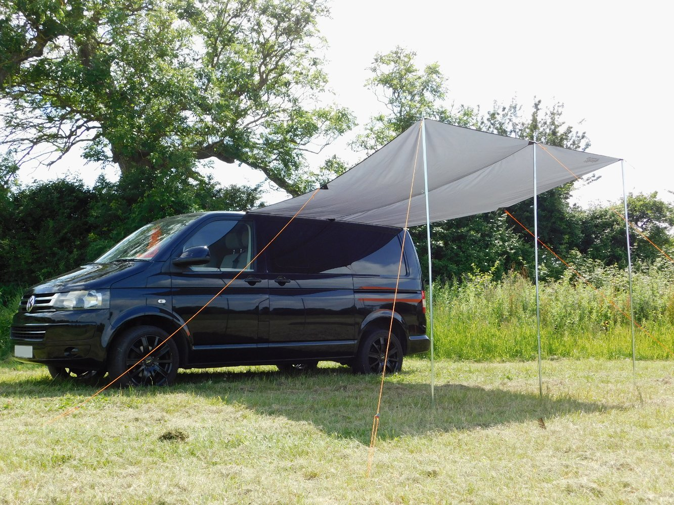 DEBUS Campervan Sun Canopy Awning - Anthracite Grey 6