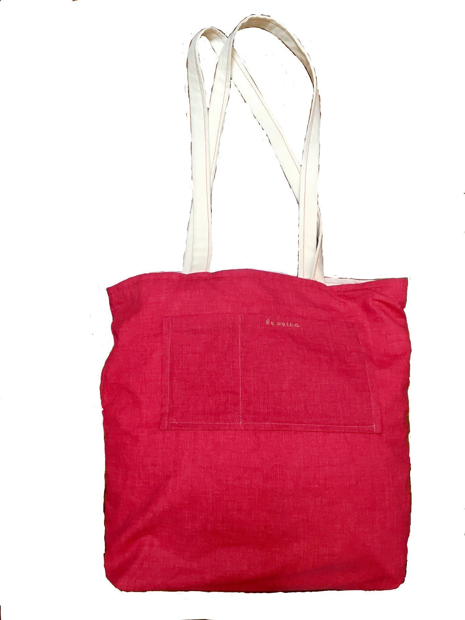 """Cat Lovers Bag - Handmade reversible cotton tote bag from Italy, 17""""x17"""" - handmade-bags"""