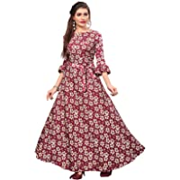 New Ethnic 4 You Women's Fit and Flare Maxi Gown
