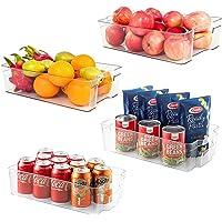 Wdmiya Ensemble de 4 Boîte de Rangement pour Frigo Boîte Alimentaire Panier et Boîte de Rangement pour Cuisine, Frigo…